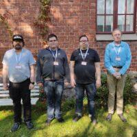 Kuvassa vasemmalta oikealle kohteliaat ja osaavat vertaistukiohjaajamme Nico, Ar...