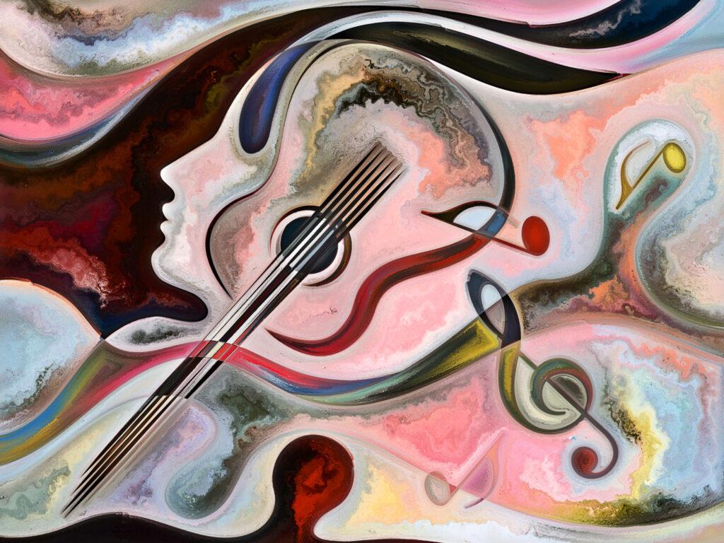 Maalaus musiikin ja mielen maailmasta
