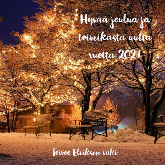 Kulttuuripaja ELVIS viettää joulun- ja vuodenvaihteen lomia 23.12.2020 - 3.1.202...